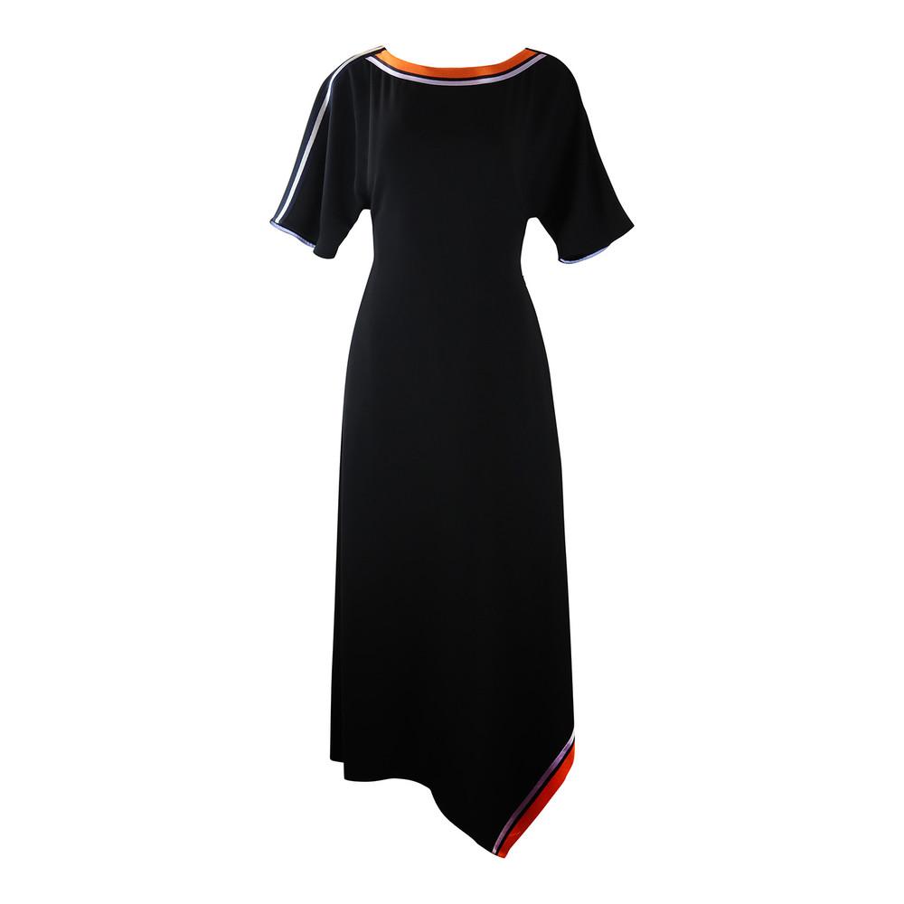 DVF Open Back Ribbon Dress Black