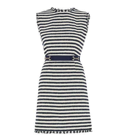Marella Zebio Stripe Tweed Dress