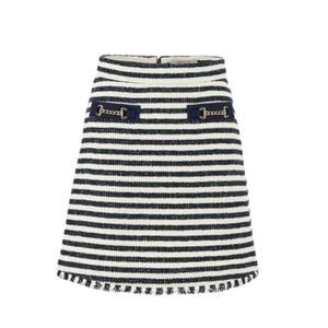 Marella Abbazia Stripe Tweed Skirt