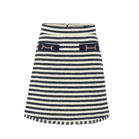 Marella Abbazia Stripe Tweed Skirt