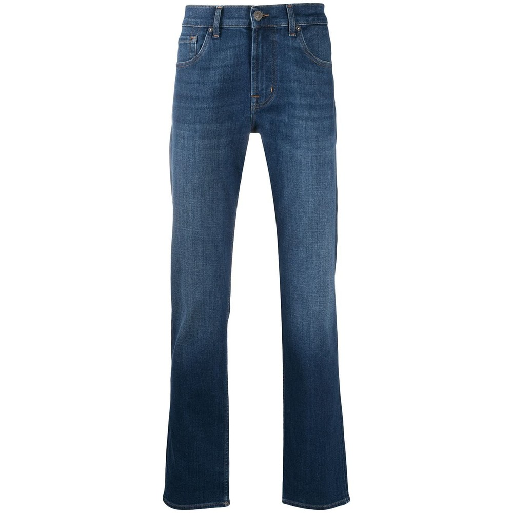 7 For All Mankind Slimmy Stretch Tek Hydra Jeans Mid Blue