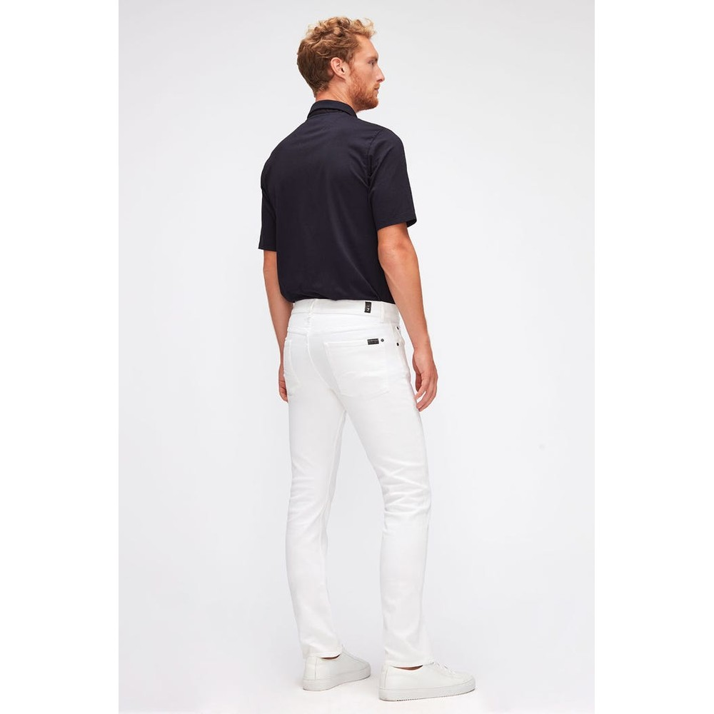 7 For All Mankind Slimmy Luxe Performance Jeans White