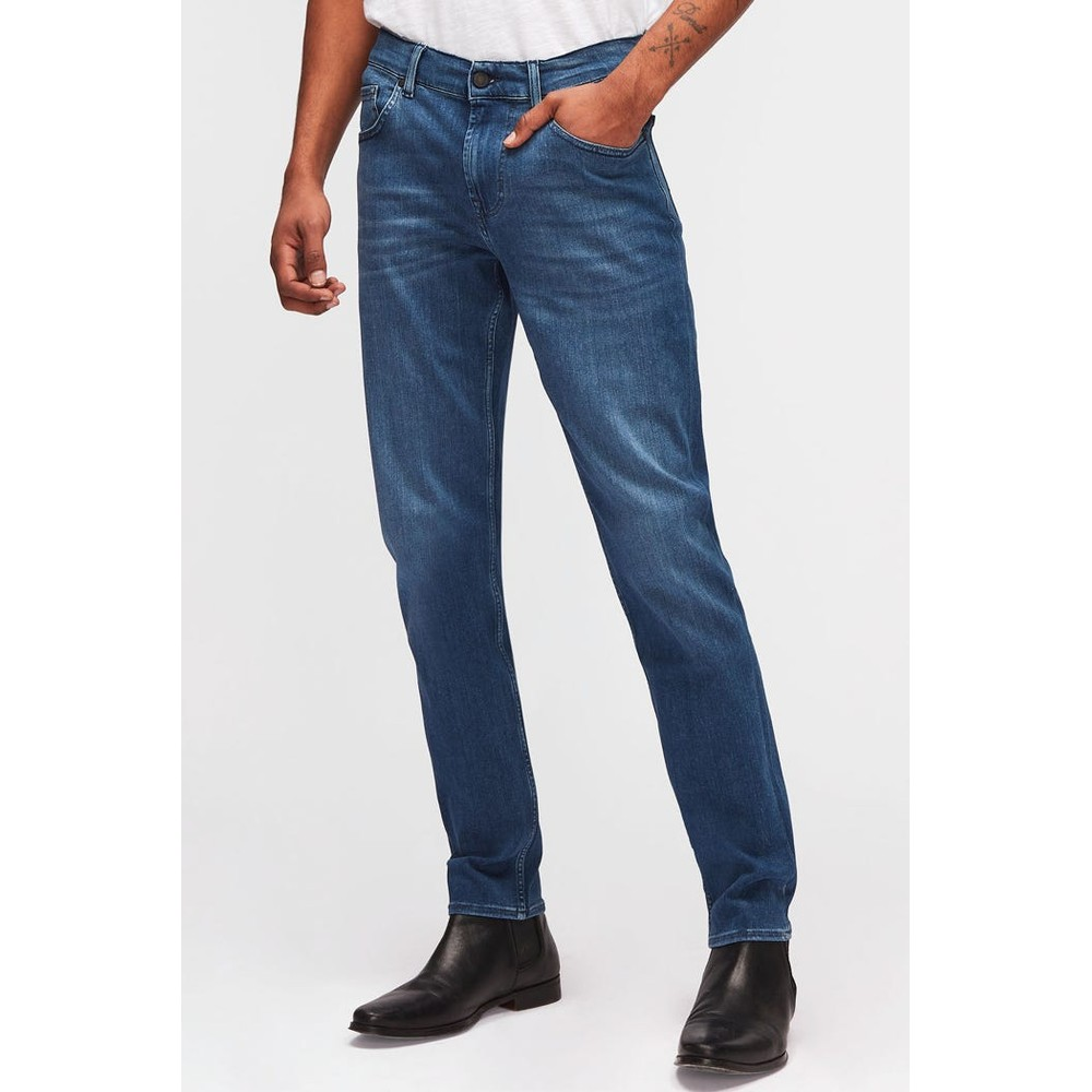 7 For All Mankind Slimmy Tapered Luxe performance Plus Jeans Mid Blue