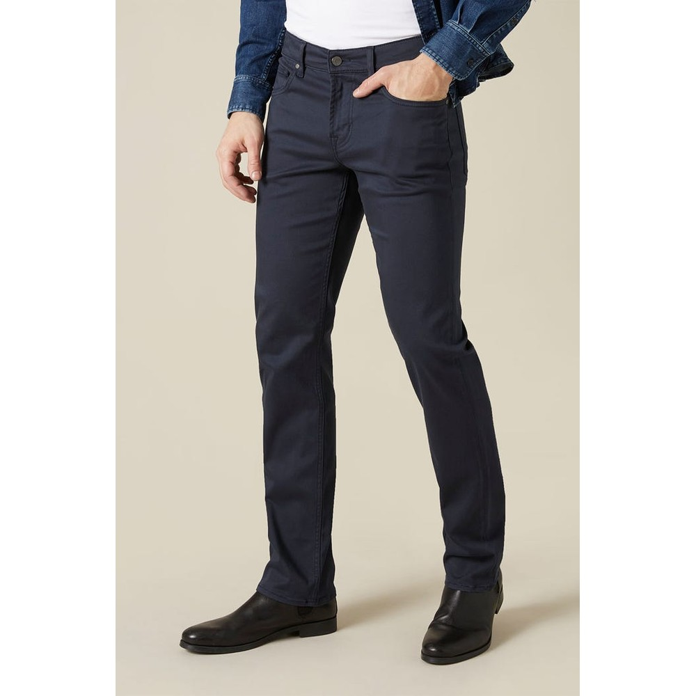 7 For All Mankind Slimmy Luxe Performance Sateen Jeans Navy