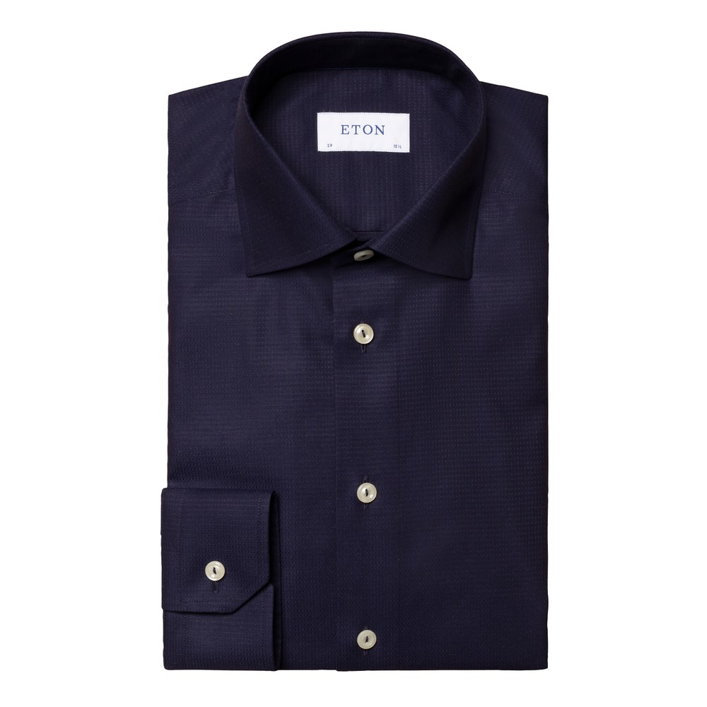 Eton Contemporary Fit Shirt Dark Blue