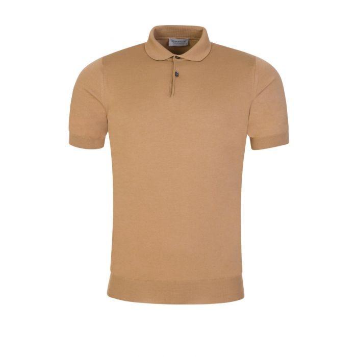 John Smedley Cpayton Short Sleeve Polo Shirt Hazelnut