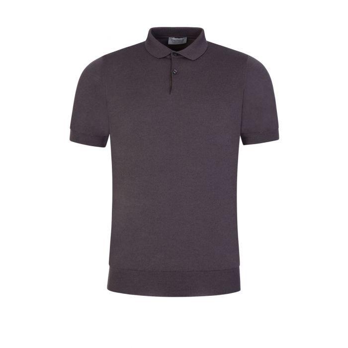 John Smedley Cpayton Short Sleeve Polo Shirt Anthracite