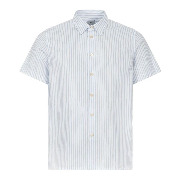 PS Paul Smith Short Sleeve Striped Casual Fit Shirt White