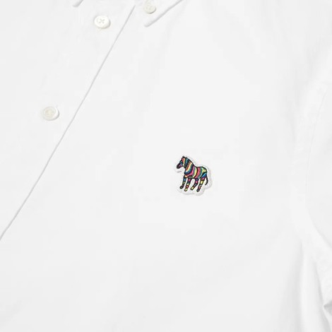 PS Paul Smith Short Sleeve Zebra Logo Tailored Fit Shirt