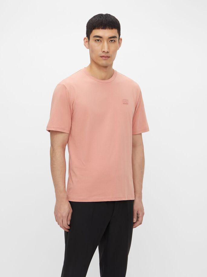 J.Lindeberg Dale Logo Patch T-Shirt Rose Coppar