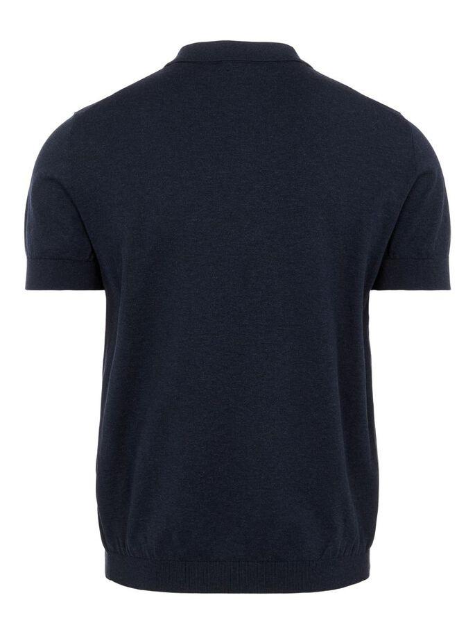 J Lindeberg Ridge Cotton Silk Polo Shirt Navy