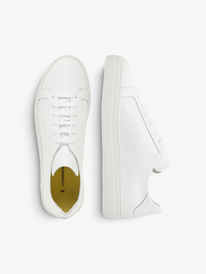 J.Lindeberg Signature Leather Sneaker White