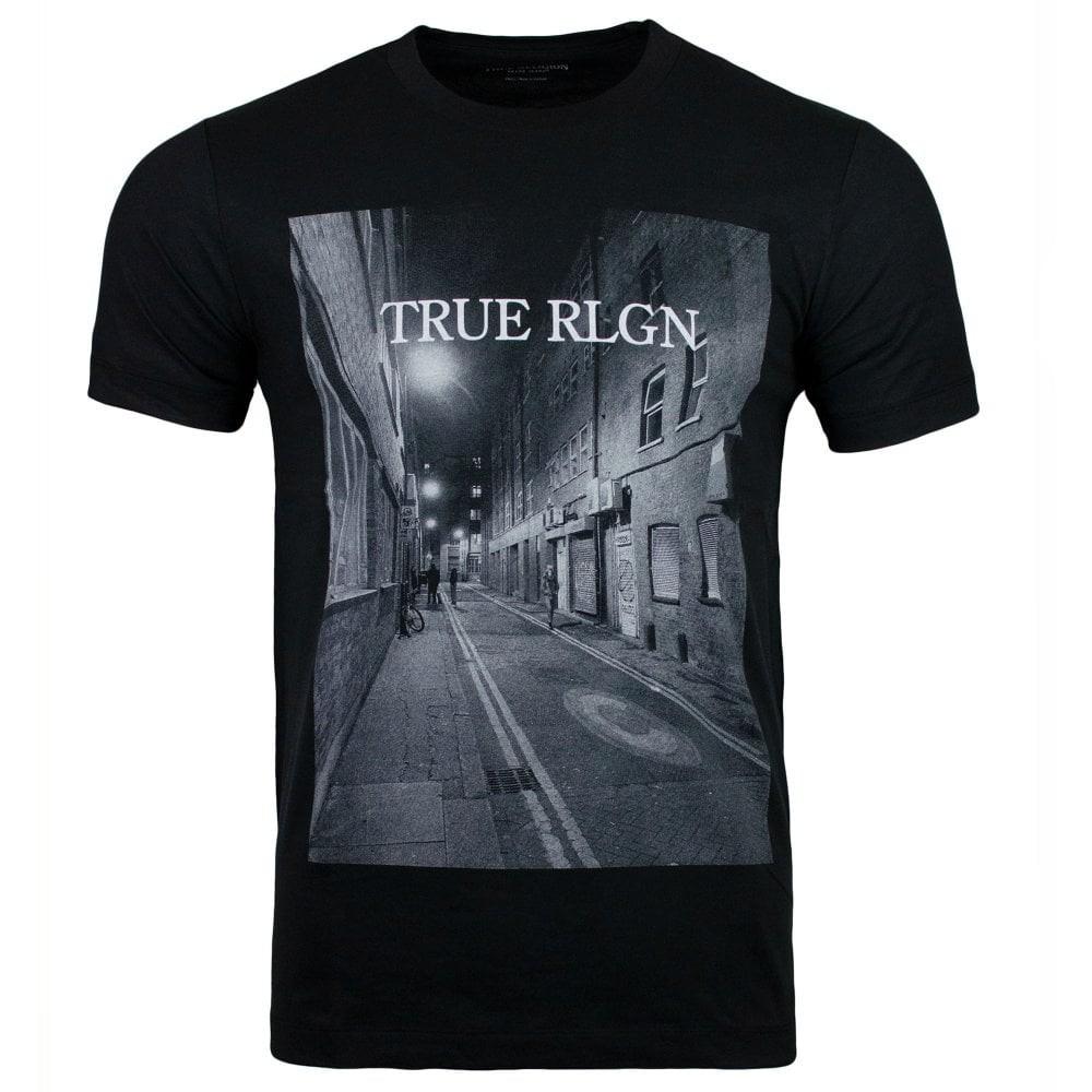 True Religion Alleyway Short Sleeve Crew Neck T-Shirt Black