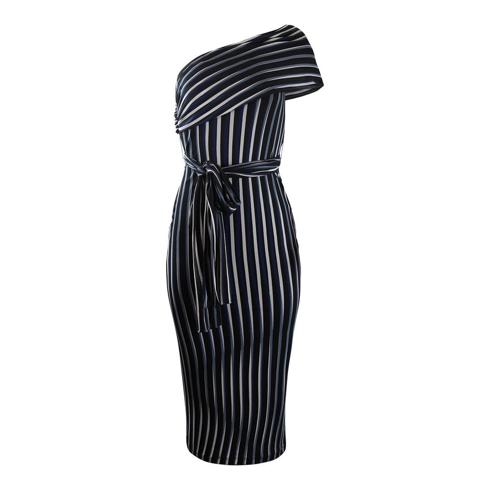 DVF Strapless Draped Front Tie Dress Black