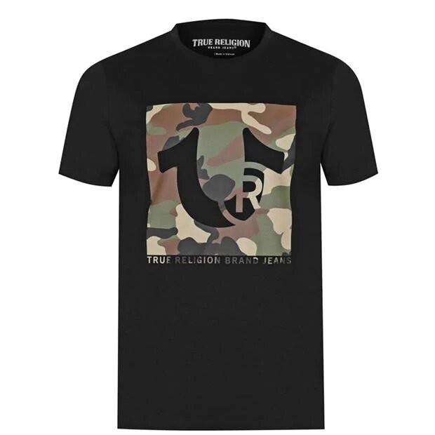True Religion SS Box Trademark T-Shirt White