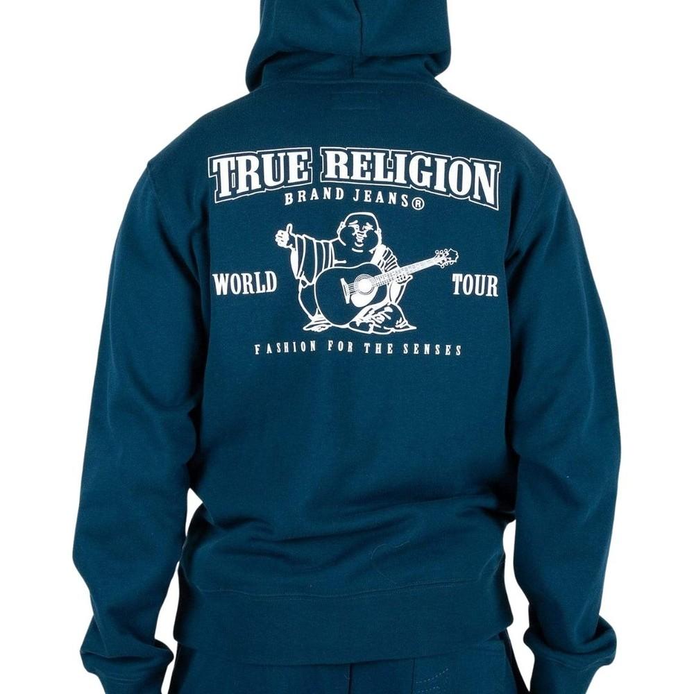 True Religion Core Zip Hoodie Blue