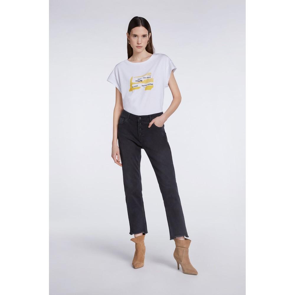 Set Graphic Print T-Shirt White
