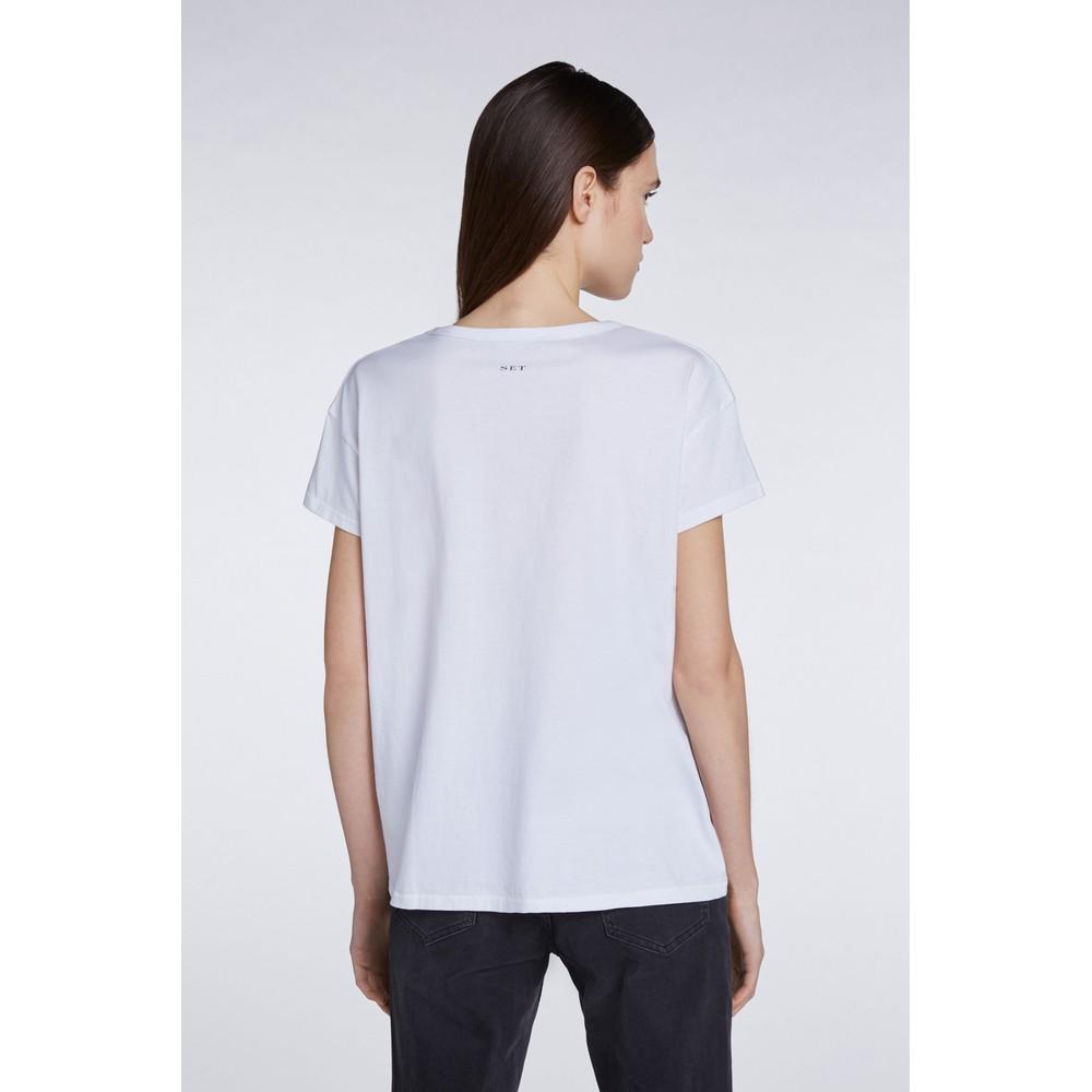 Set Freedom Graphic Print T-Shirt White