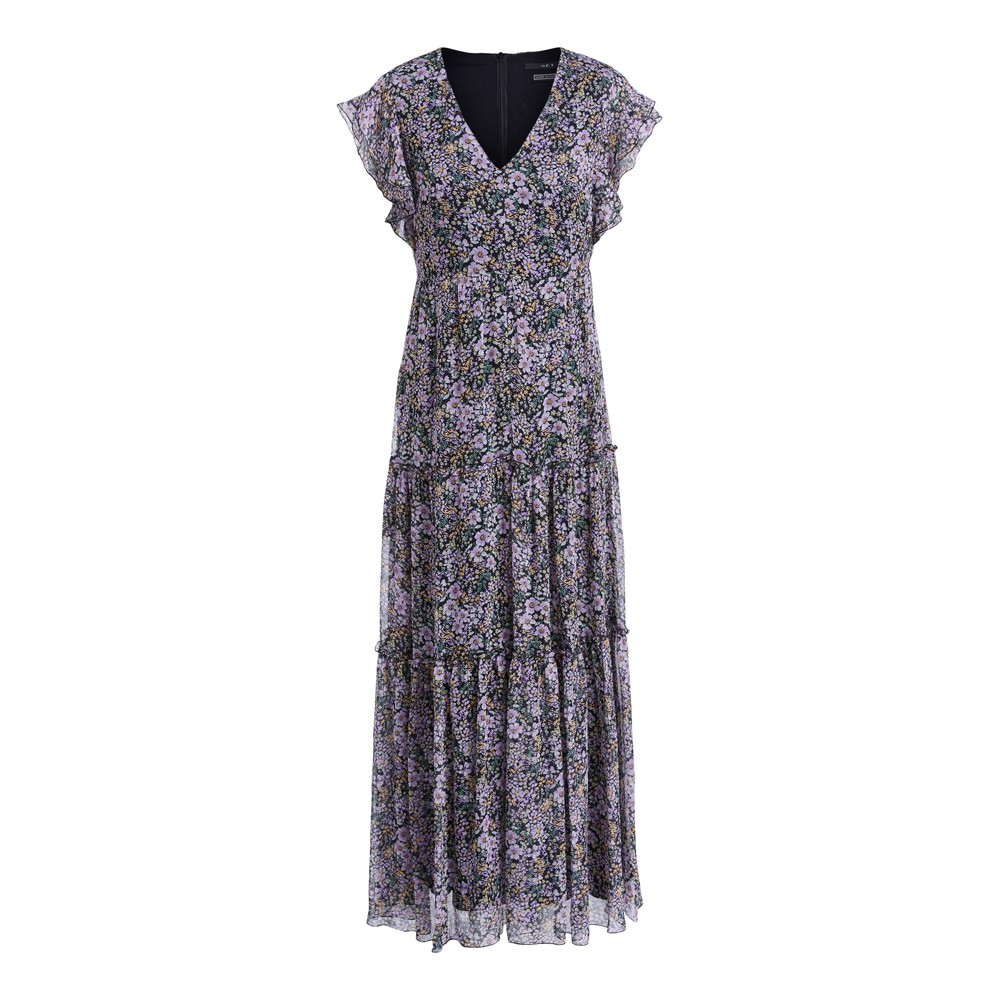 Set Floral Dress Violet