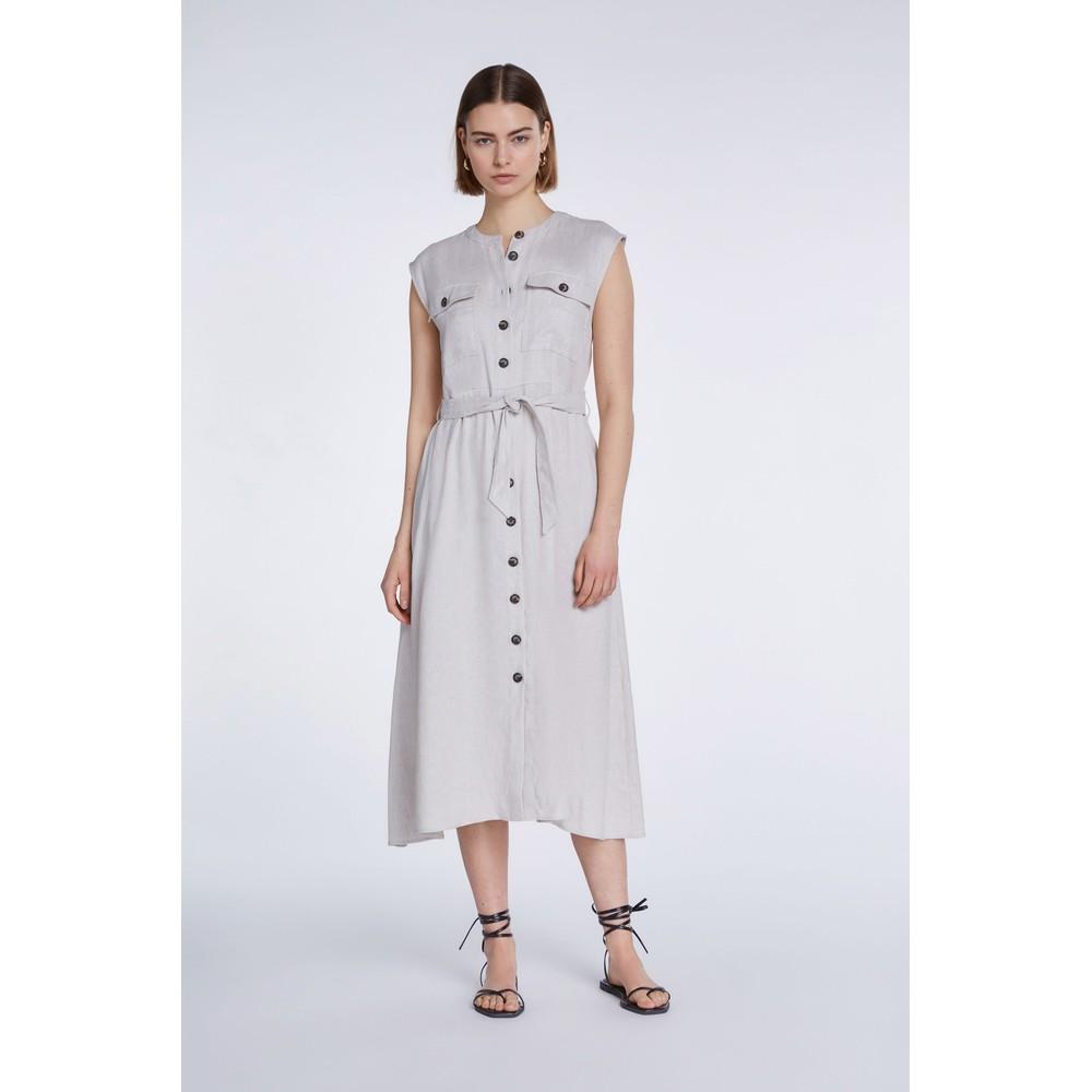Set Button Up Dress Stone