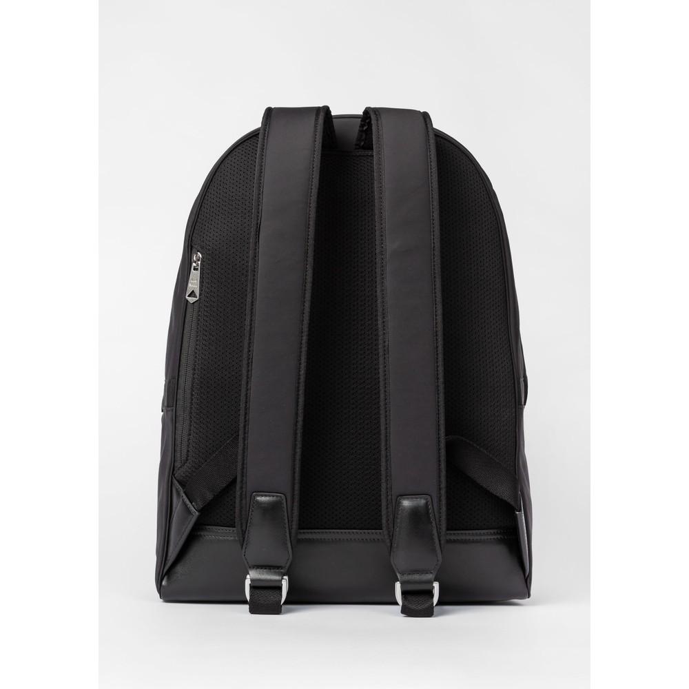 Paul Smith Canvas 'Signature Stripe' Backpack Black