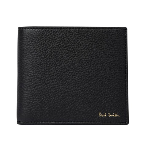 Paul Smith Leather Billfold Wallet With 'Signature Stripe' Interior