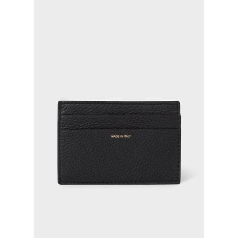 Paul Smith Grained Leather Credit Card Holder With Signature Stripe Trim