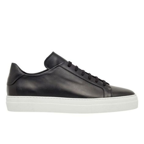 J.Lindeberg Signature Leather Sneaker in Black & White