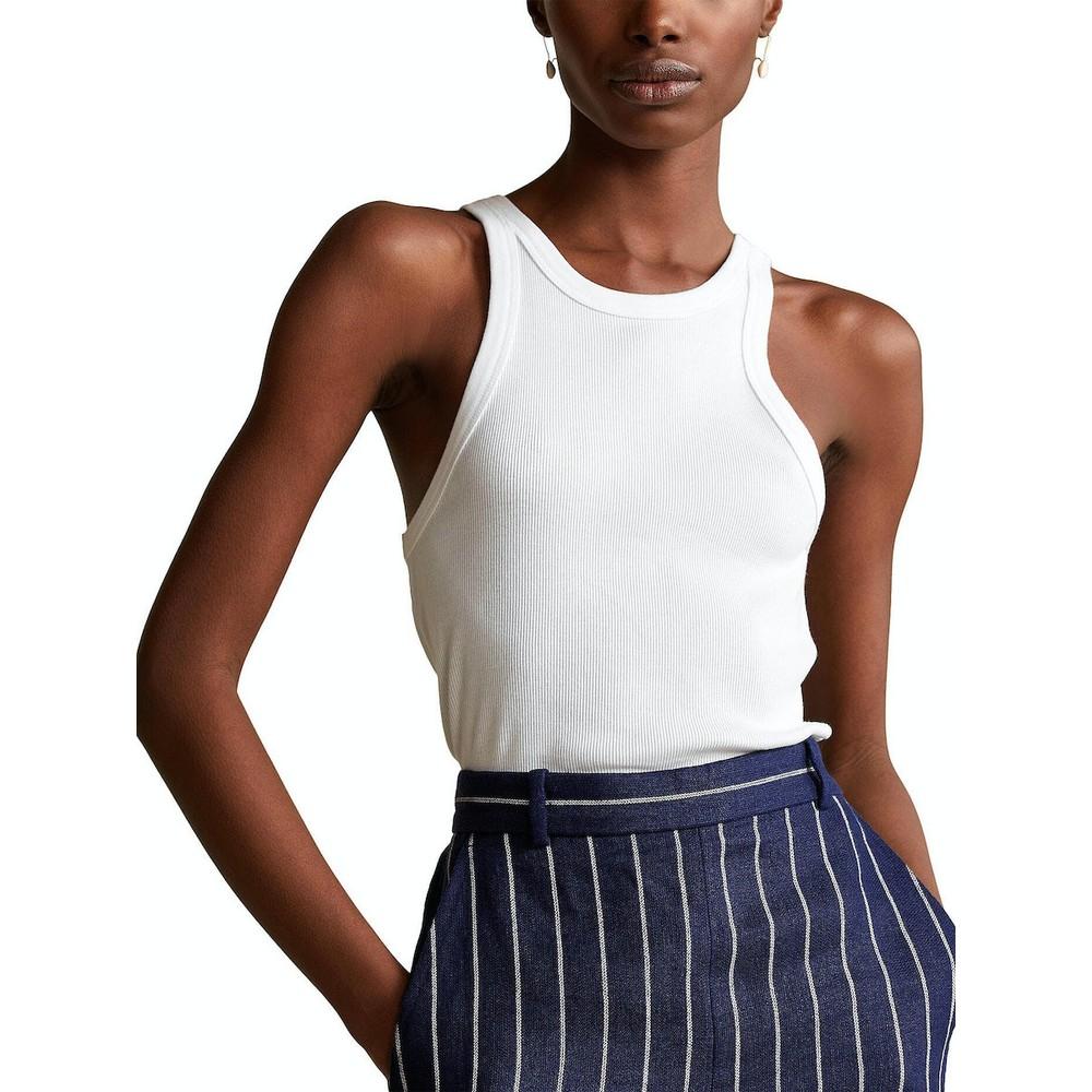 Ralph Lauren Womenswear Knitted Tank Top White