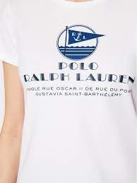 Ralph Lauren Womenswear Short Sleeve Graphic Print T-Shirt White