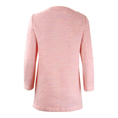Moschino Boutique Pink Tweed Coat