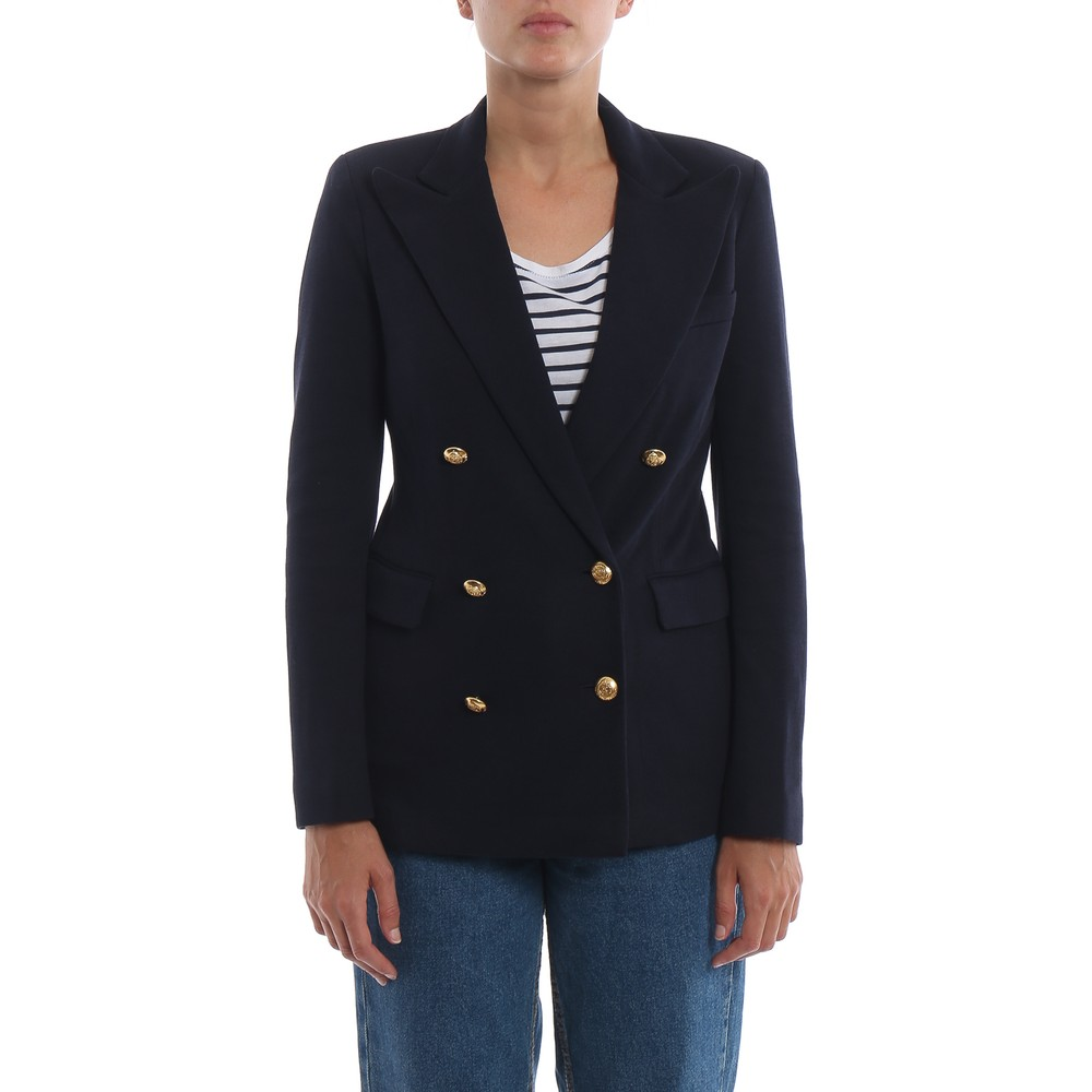 Ralph Lauren Womenswear Double Breasted Blazer Navy