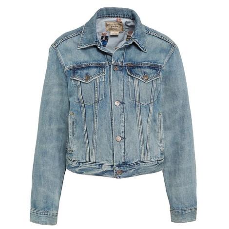 Ralph Lauren Womenswear Denim Bear Trucker Jacket