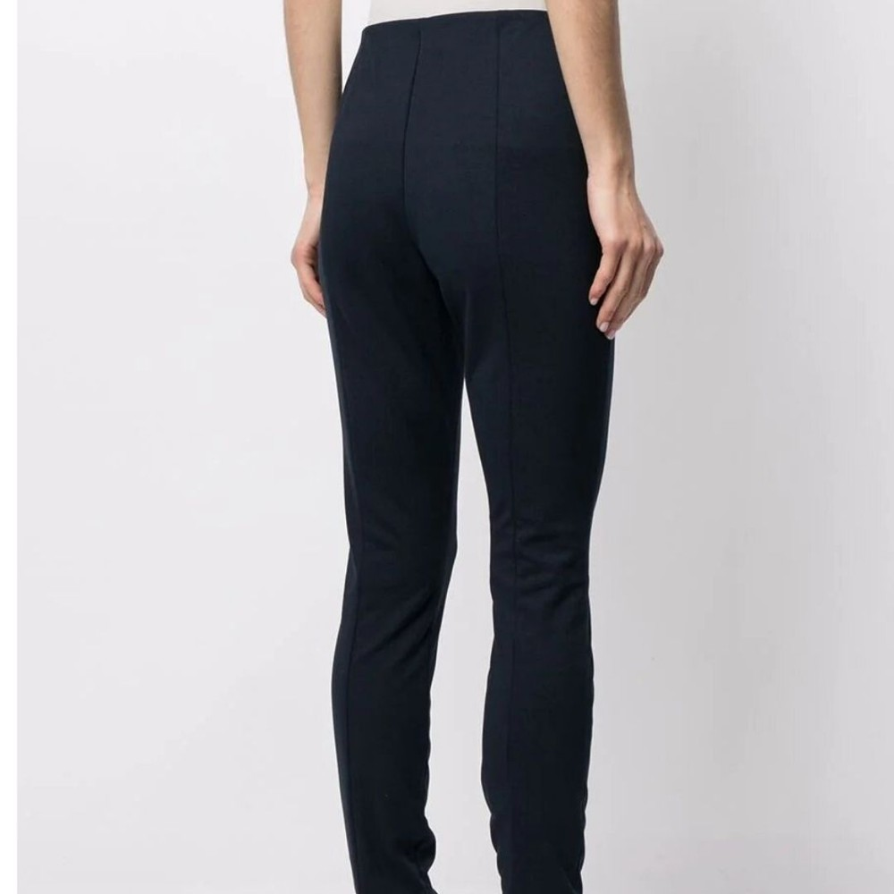 Ralph Lauren Womenswear Spat Slim Trousers Navy