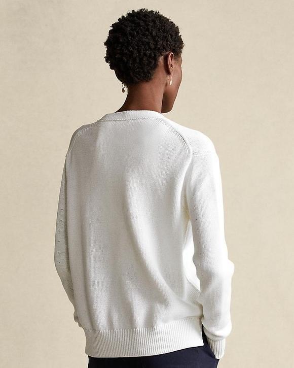 Ralph Lauren Womenswear Long Sleeve Cardigan White