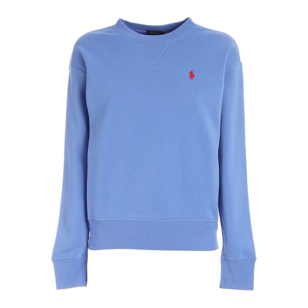 Ralph Lauren Womenswear Crew Neck Sweatshirt Blue