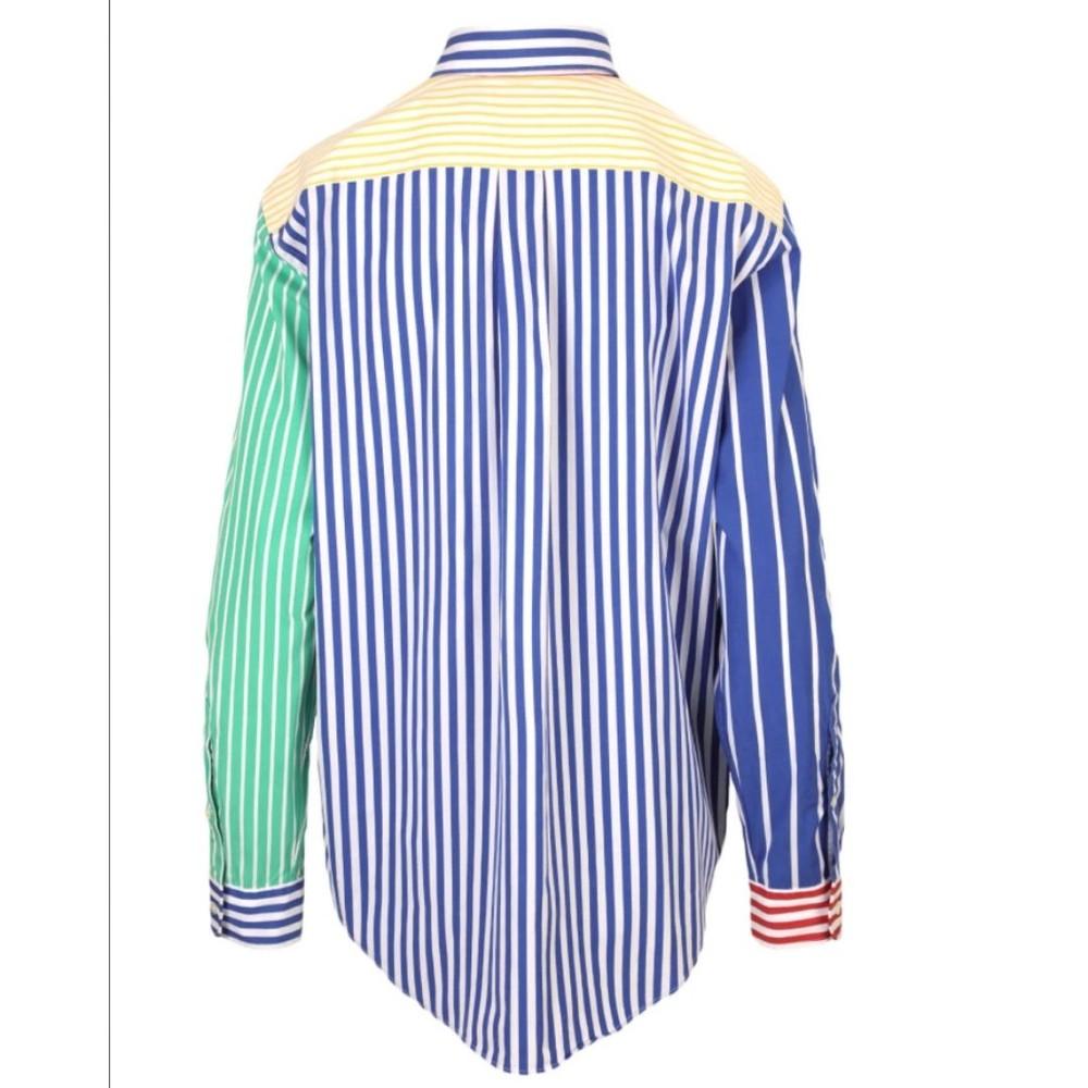 Ralph Lauren Womenswear Multi Stripe Oversized Shirt Multi