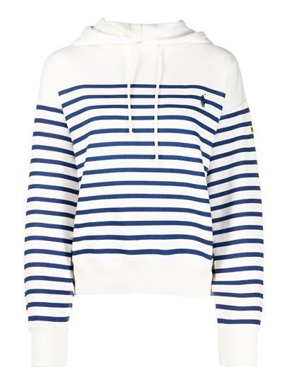 Ralph Lauren Womenswear Striped Hoodie White