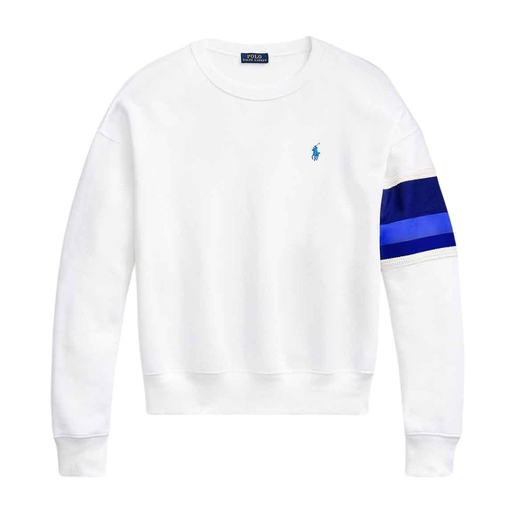 Ralph Lauren Womenswear POLO Logo Crew Neck Sweatshirt White