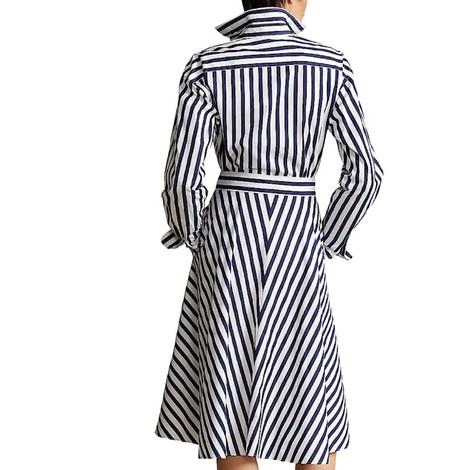 Ralph Lauren Womenswear Ela Striped Long Sleeve Dress