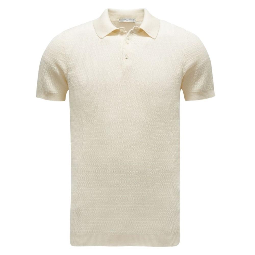 Circolo P.Chicco Merc Polo Shirt Cream