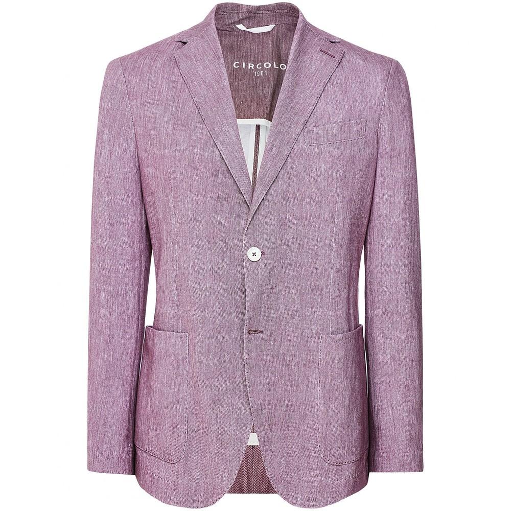 Circolo Giacca Jersey Blazer Purple