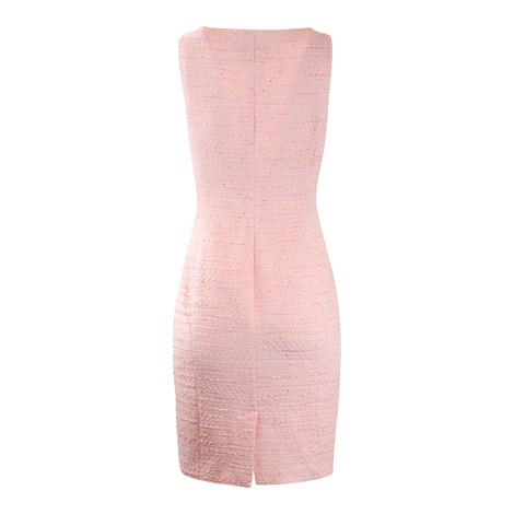 Moschino Boutique Pink tweed Dress with Front Bow Detail