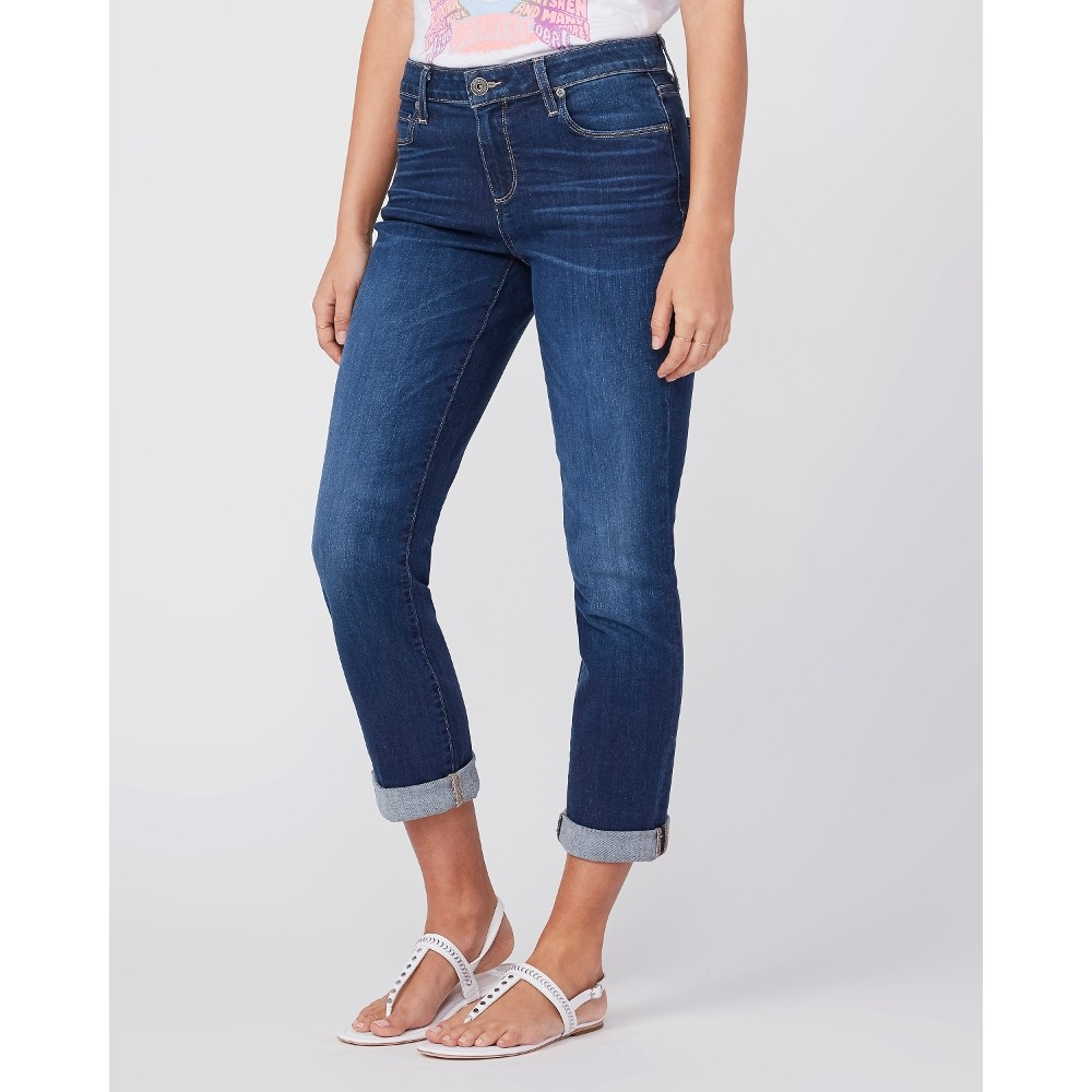 Paige Brigitte Boyfriend Skinny Jeans Denim Blue