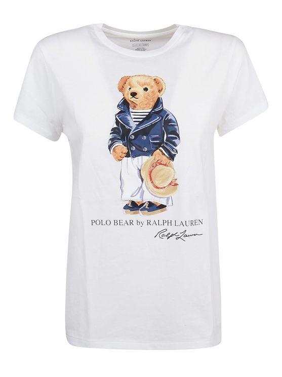 Ralph Lauren Womenswear Teddy Bear T-Shirt White