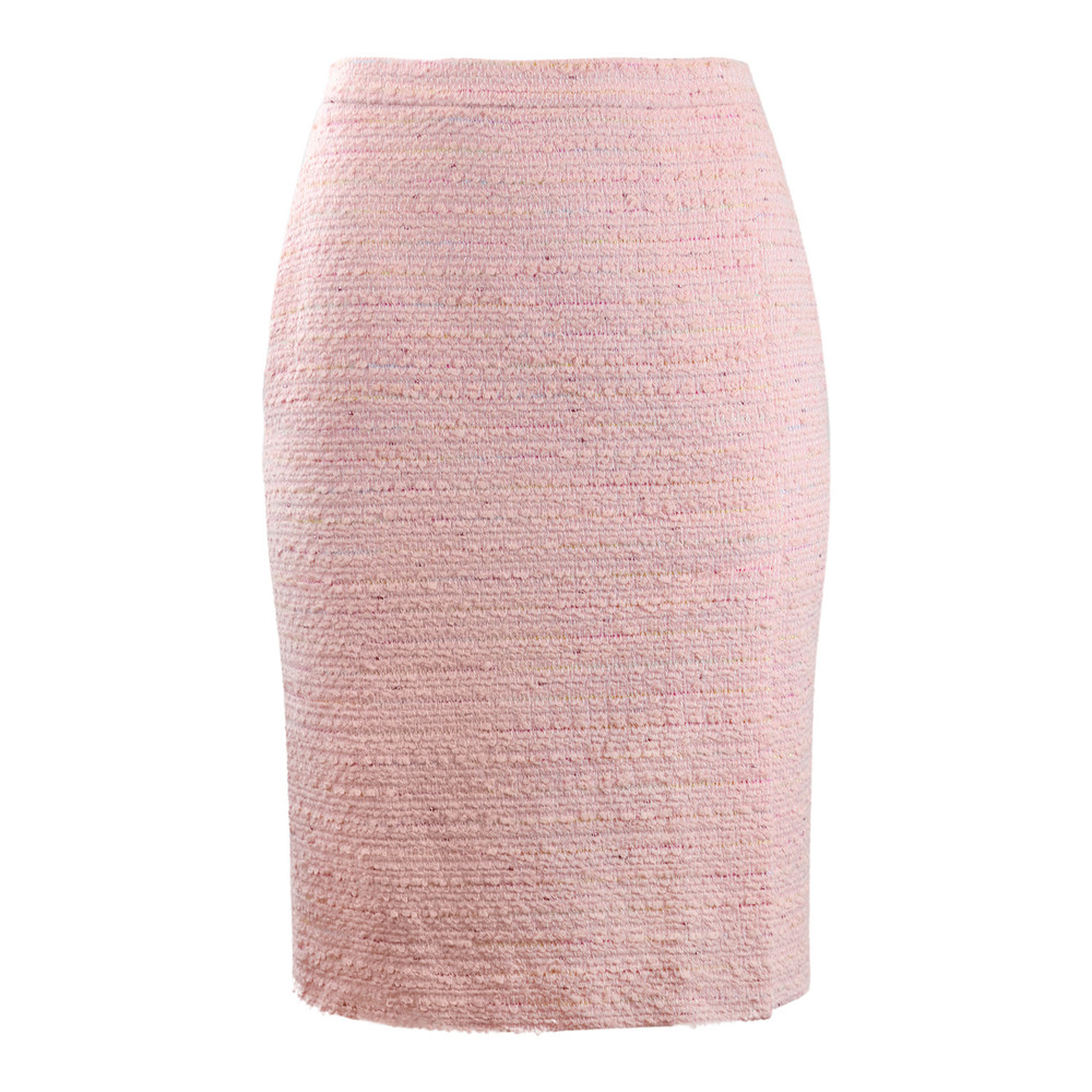 Moschino Boutique Pink Tweed Skirt Pink