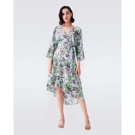 DVF Eloise Willow Flower Midi Dress