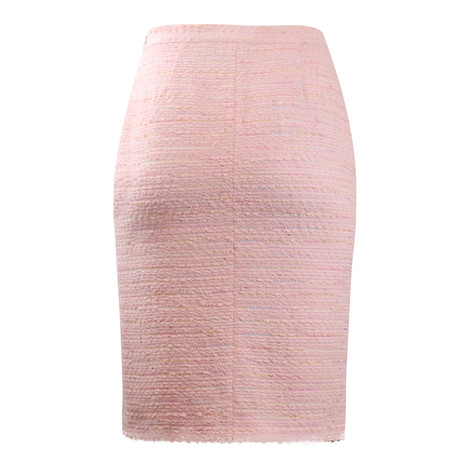 Moschino Boutique Pink Tweed Skirt