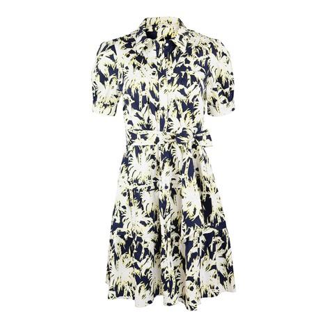 DVF DVF Amber Mini Shirt Dress in Navy and White