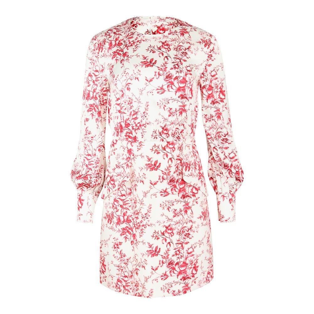 Moschino Boutique Fantasy Print Toille De Jouy Dress Cream